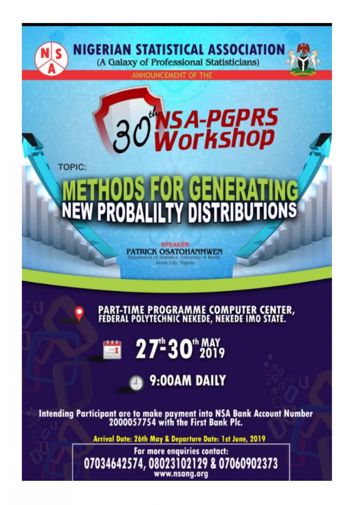 30th NSA-PG: Membership Continuous Professional Education  Workshop