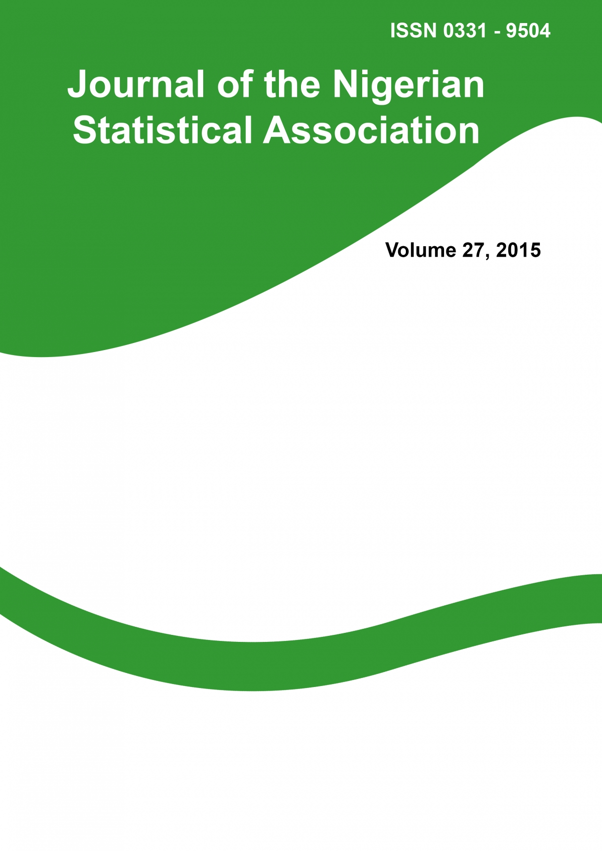 Journal of the Nigerian Statistical Association Vol. 27, 2015