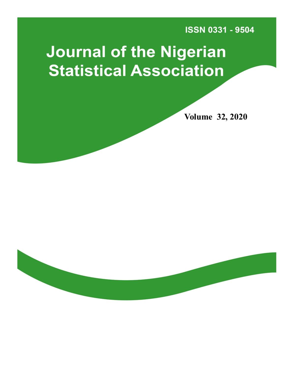 Journal of Nigerian Statistical Association Vol.32, 2020