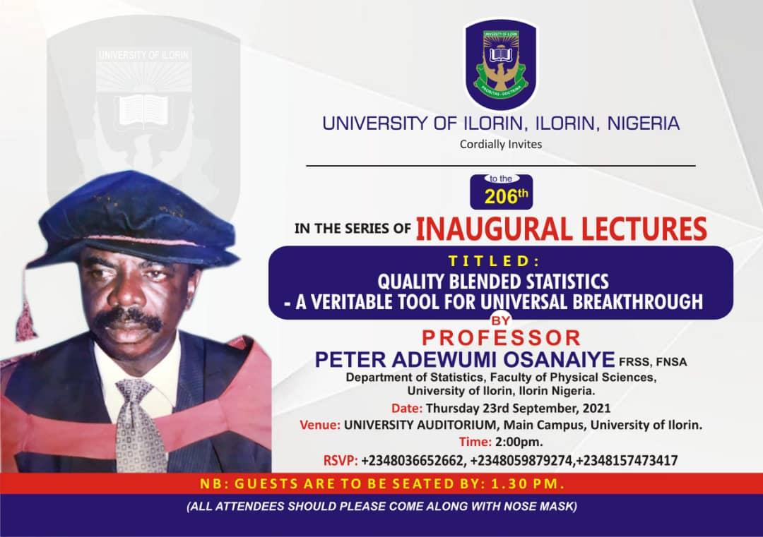 Inaugural Lecture by Prof. Peter Adewumi Osanaiye
